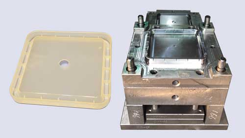 injection mold for square plastic cover