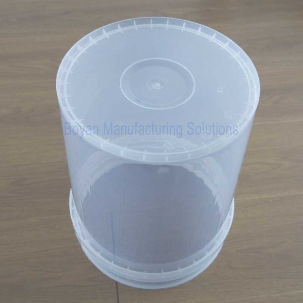 40 liter plastic barrel bottom view