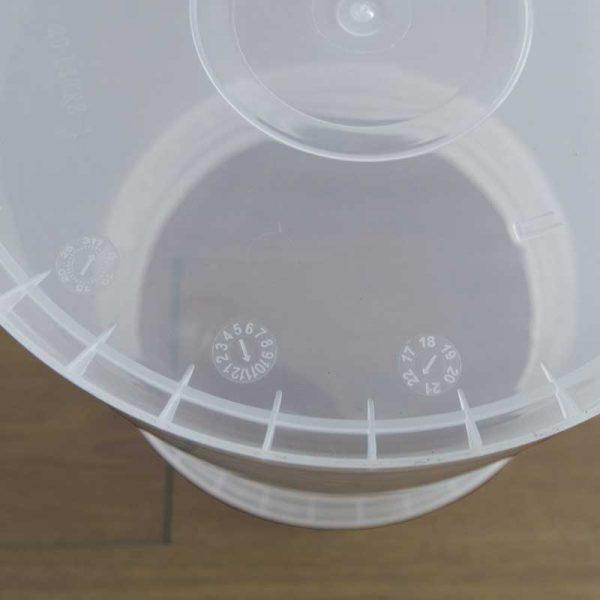 40 liter plastic barrel close view