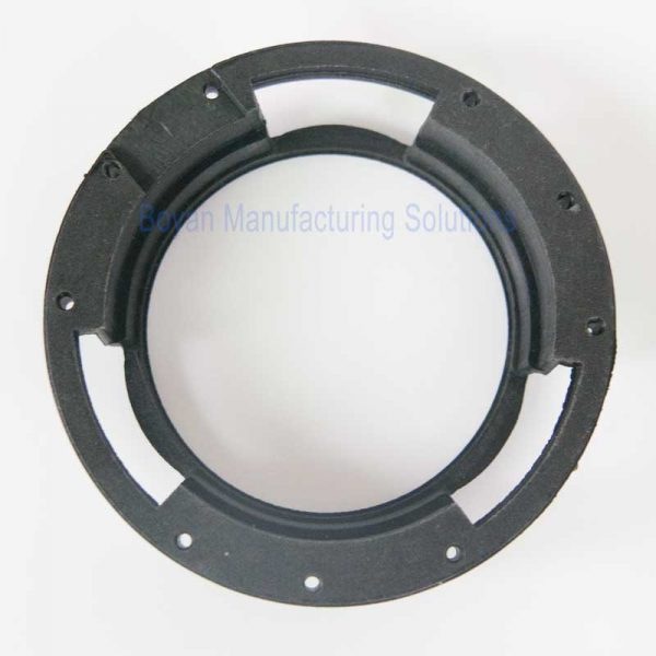 PA66 GF30 plastic part for camera lens front view