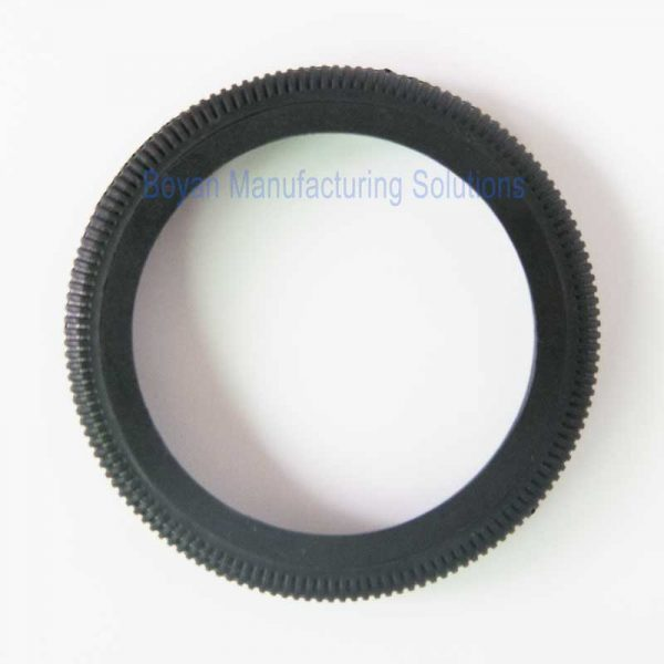 plastic camera lens retainer front view
