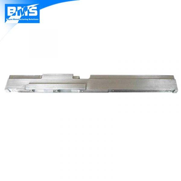 a long aluminum part clear anodized