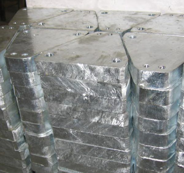S355 steel plate machined and hot dip galvanized