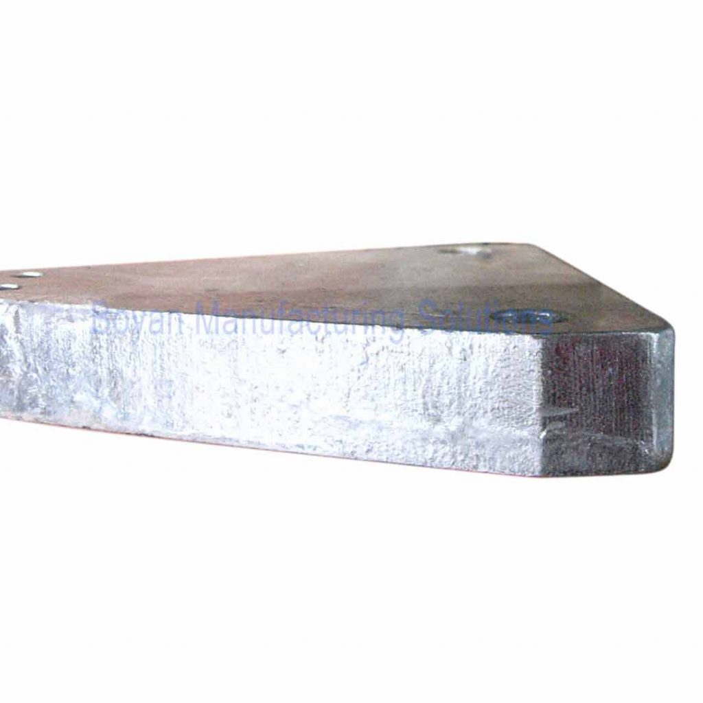 Q345 steel plate machined and hot dip galvanized