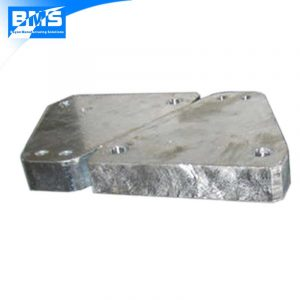 Q345 or S355 steel machined parts and then hot dip galvanized