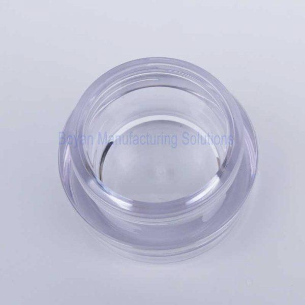 custom acrylic cosmetic jar top view