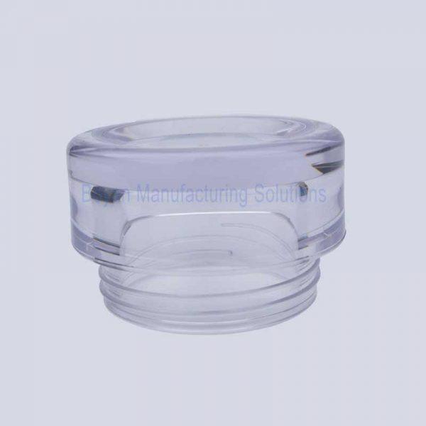 custom acrylic cosmetic jar bottom view
