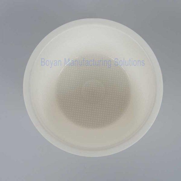 material PP plastic bowl top view