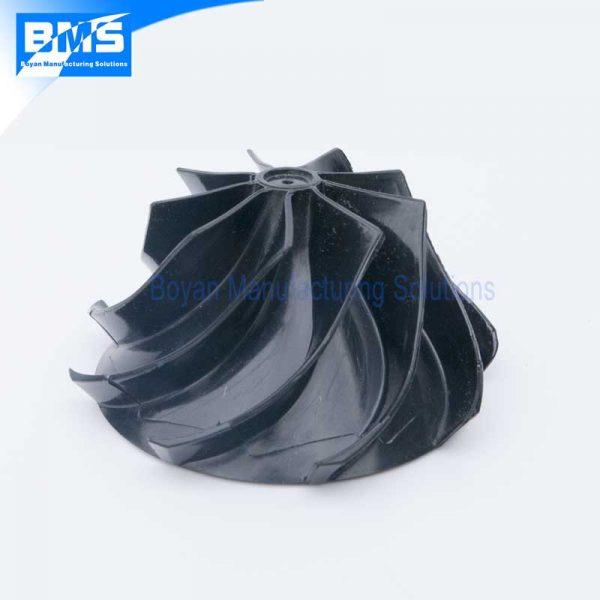 Plastic centrifugal impeller