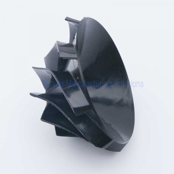 Plastic centrifugal impeller side view