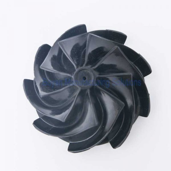 Plastic centrifugal impeller top view