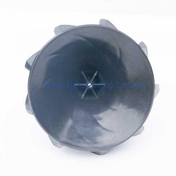Plastic centrifugal impeller bottom view