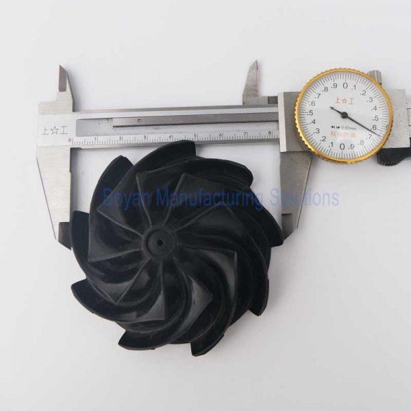 Plastic centrifugal impeller OD measurement