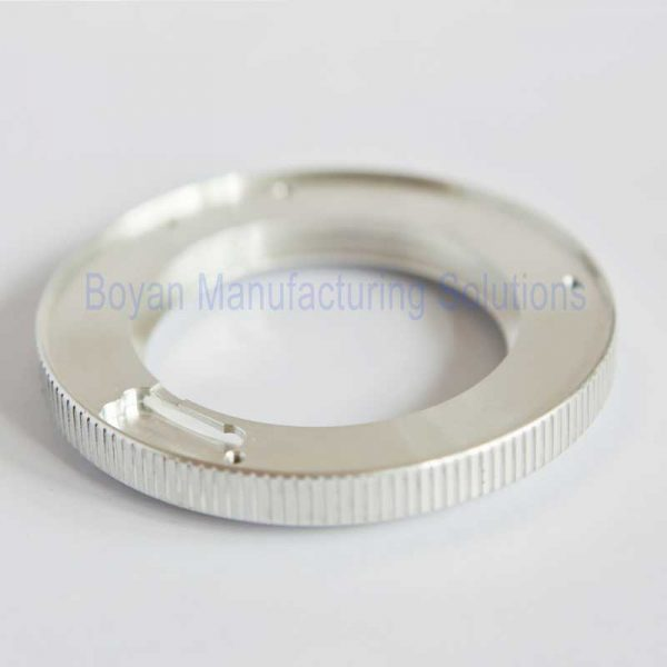 aluminum retaining ring without anodizing