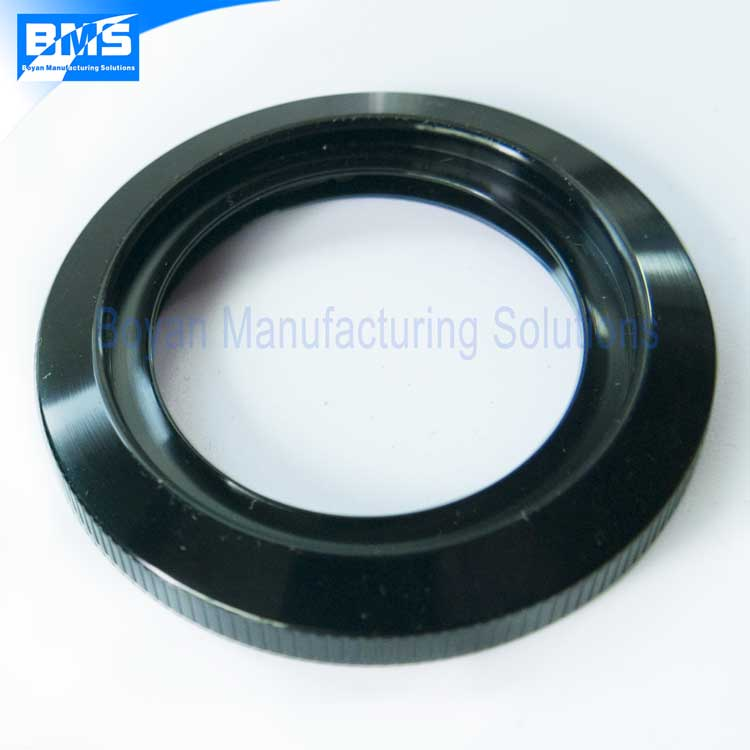black anodized aluminum retaining ring for camera lens