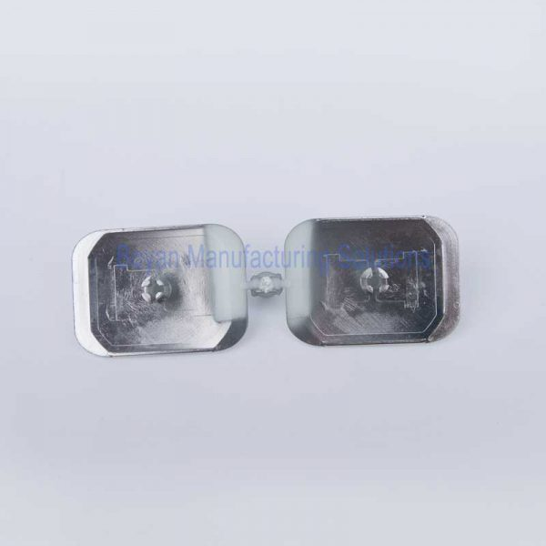 chrome plated plastic mirror back view