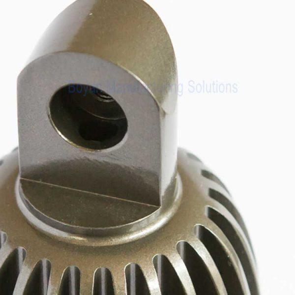 cnc machined spotlight close-up view