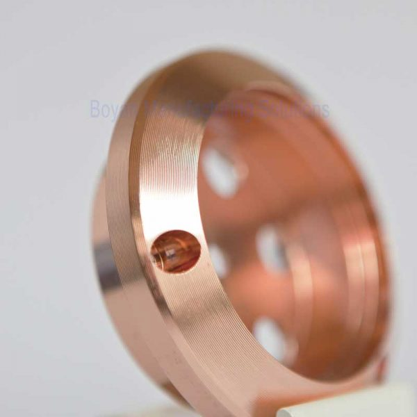 cnc turning part and copper plated side view