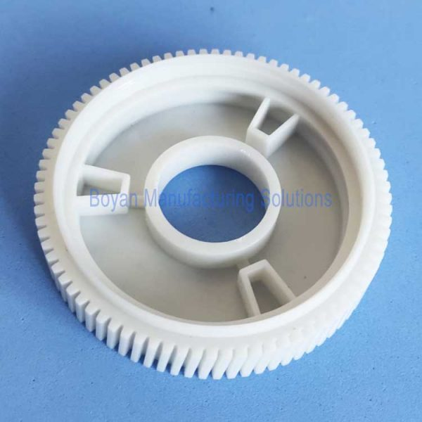 custom plastic helical gear bottom view