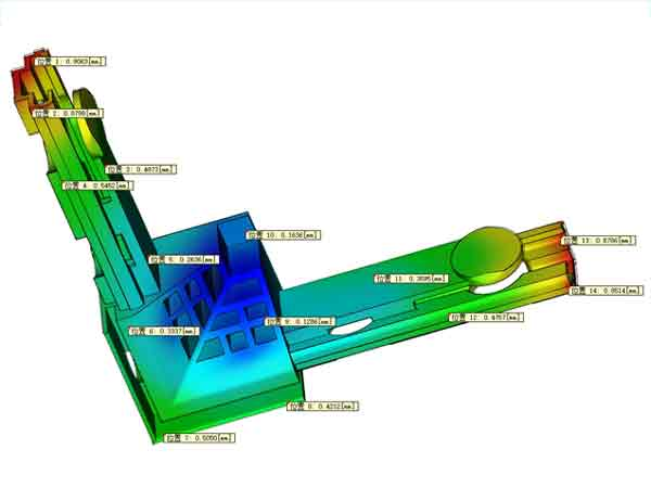 A sample of mold flow analysis