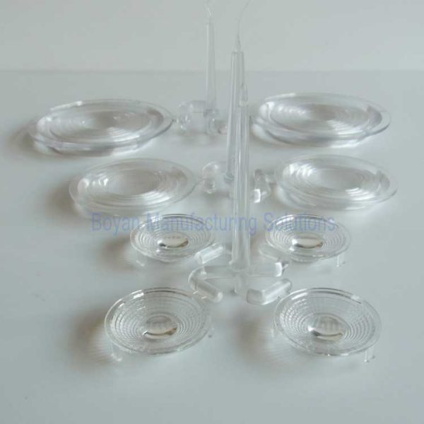 plastic LED lens different sizes