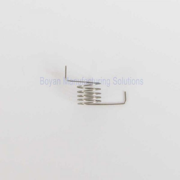 side view of a small torsion spring