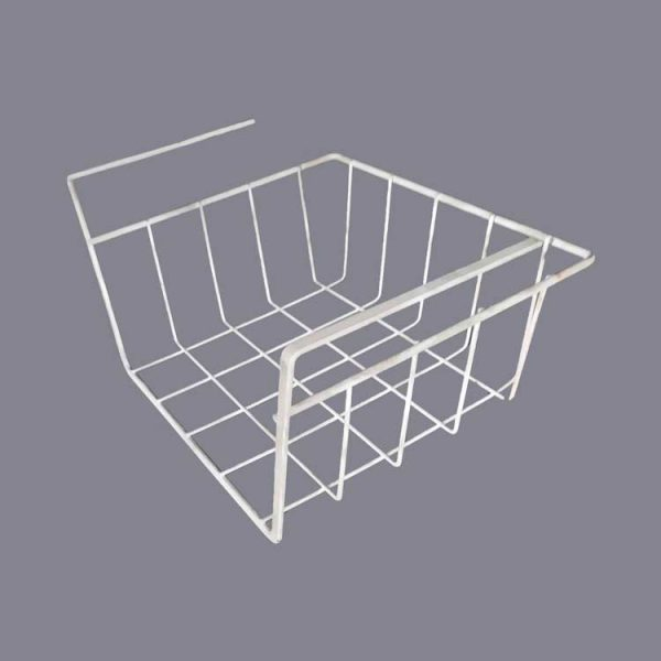 wire basket made of flat wire
