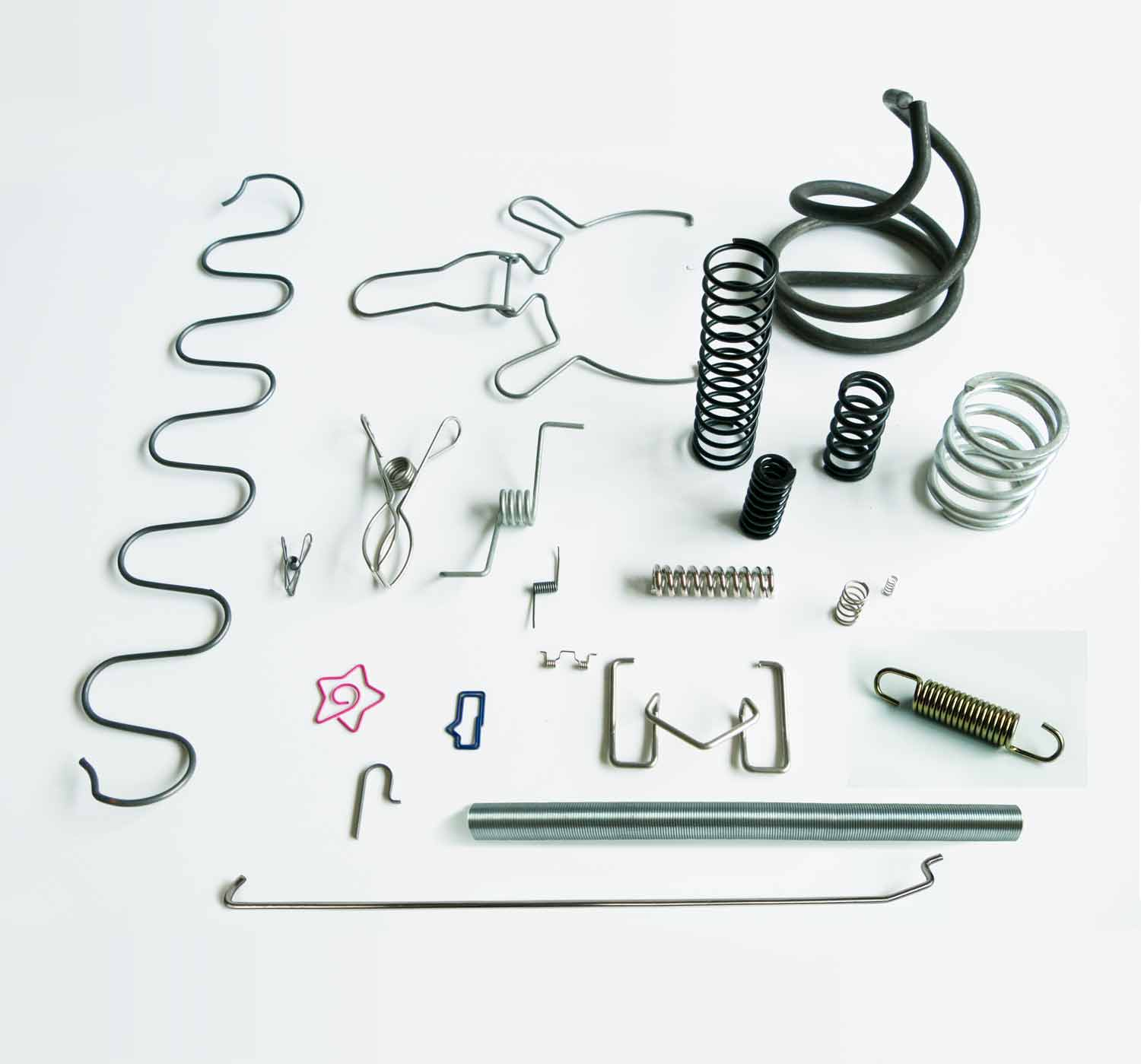 custom wire forming and springs different samples