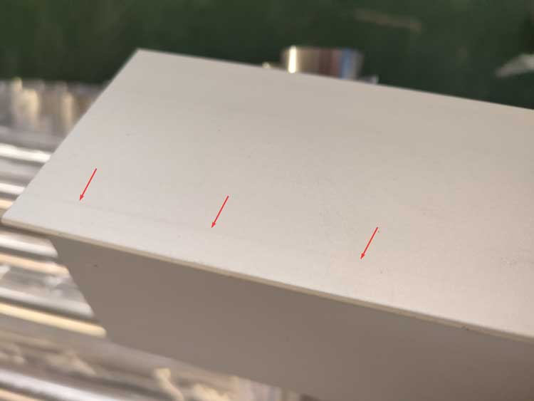 Tool marks on anodized aluminum extrusion picture 2