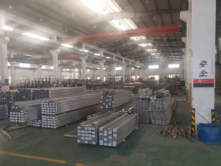 warehouse for aluminum extrusions