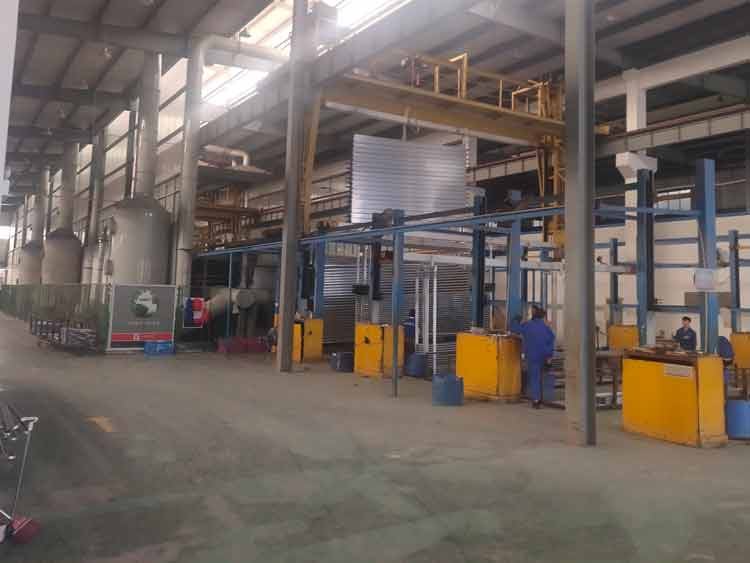 aluminum extrusions anodizing loading area