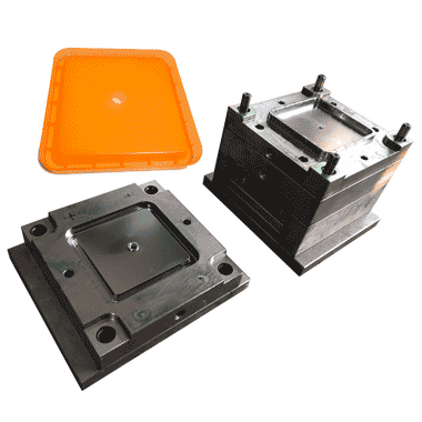 plastic mold for a container cover