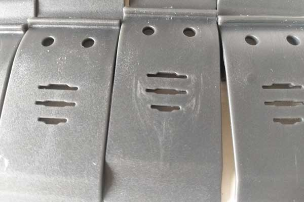 silver streak on a PC plastic part