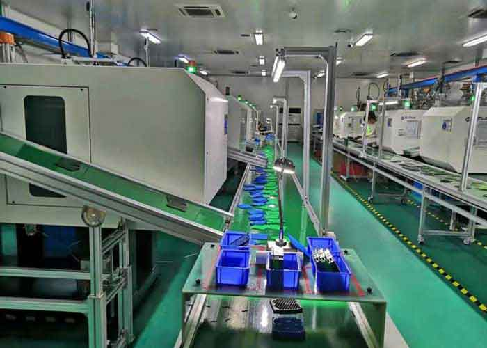 Production line of injection molding machine 1
