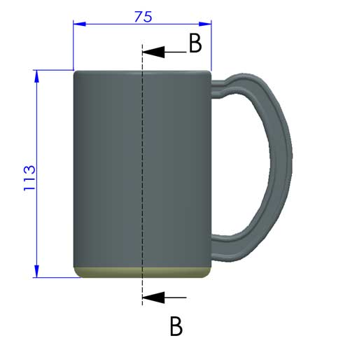 outside dimensions of the double wall plastic mug