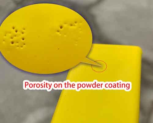 Porosity on powder coating