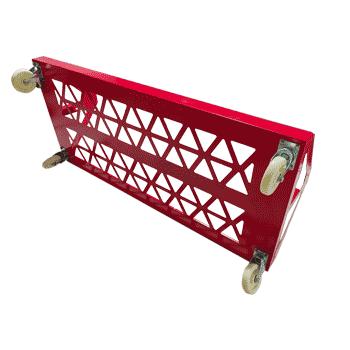 cart chassis with caster wheels