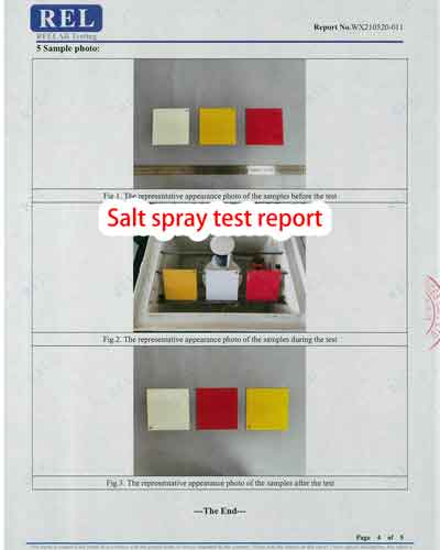salt spray test report