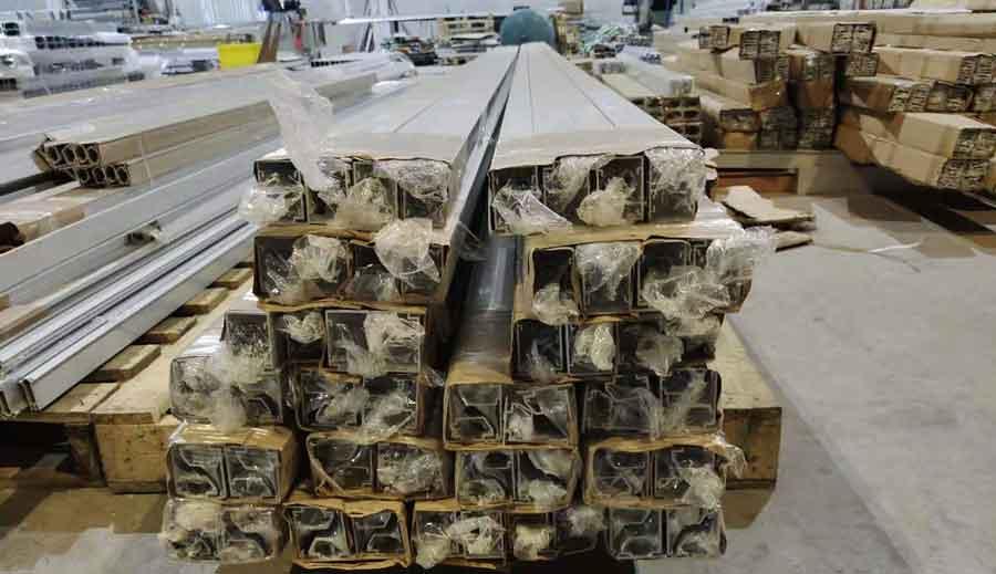 unmachined stock aluminum profiles