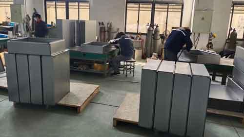 welding area sheet metal factory