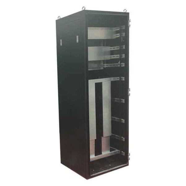 19 inch 42U server rack assembled