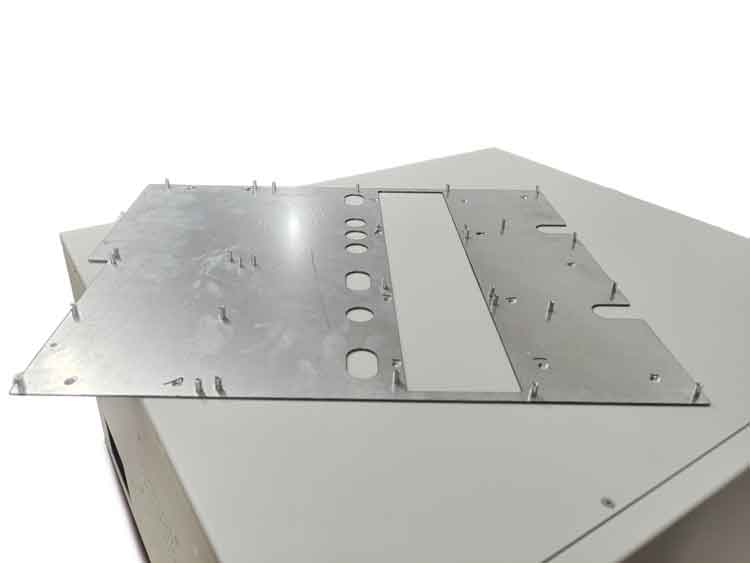 PEM studs and nuts on the mounting plate