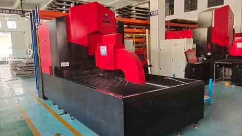 CNC press brake, back view