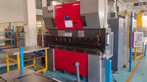 CNC press brake, front view