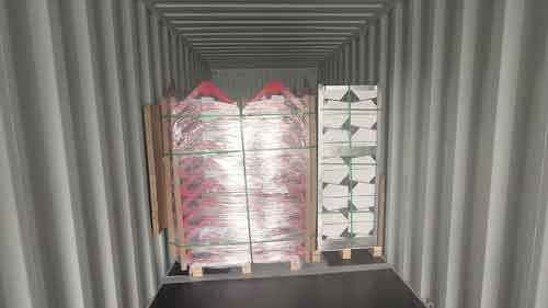 container loading of sheet metal parts