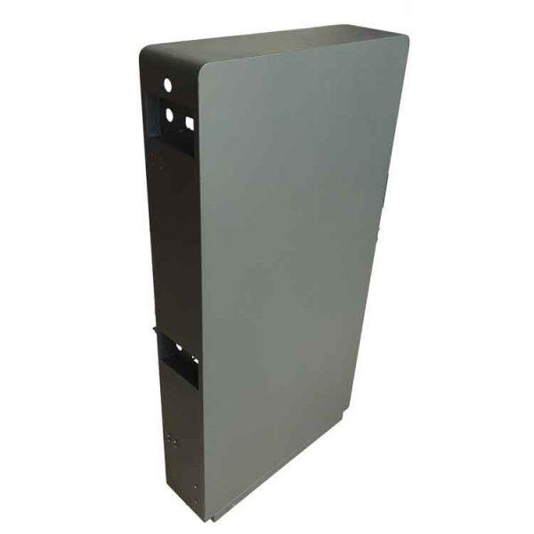 custom sheet metal cabinet back view