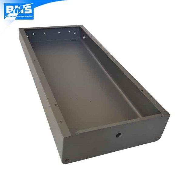 custom sheet metal drawer front view