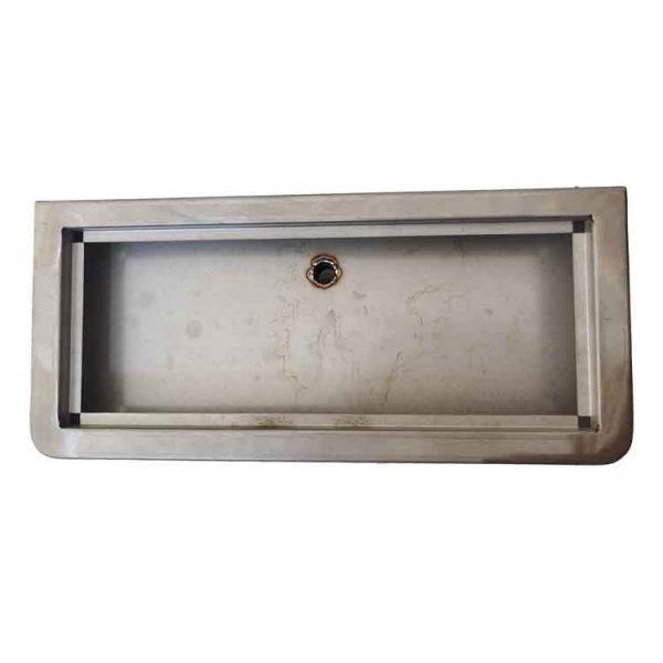 custom stainless steel box top view